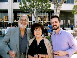 Martha et Plácido Domingo avec Salvador